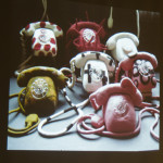 Catherine's felted telephones