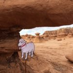 Alice in Goblin Valley looking for orchs.