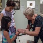 Children learned how to make friendship bracelets!
